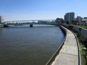 中川河川敷 徒歩2分(約129m)